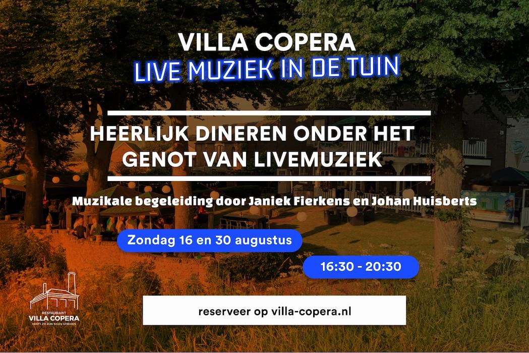 Villa Copera - Caribbean Vibe met DJ Djaell - 7 en 28 augustus 2020 - Flyer